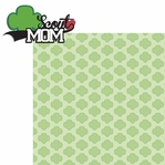 Sports Mom: Scout Mom Girl 2 Piece Laser Die Cut Kit