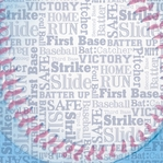 Sports Typography: Baseball 12 x 12 Paper