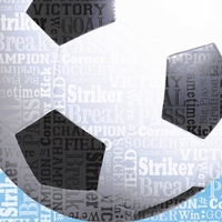 Sports Typography: Soccer 12 x 12 Paper