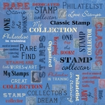 Stamp Collecting Collage 12 x 12 Paper