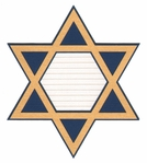 Star of David Journal Block Laser Die Cut