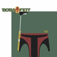Star Wars Characters: Boba Fett 2 Piece Laser Die Cut Kit