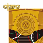 Star Wars Characters: C-3PO 2 Piece Laser Die Cut Kit