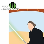 Star Wars Characters: Luke Skywalker 2 Piece Laser Die Cut Kit
