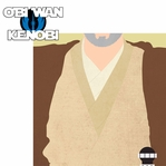 Star Wars Characters: Obi wan Kenobi 2 Piece Laser Die Cut Kit