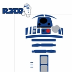 Star Wars Characters: R2-D2 2 Piece Laser Die Cut Kit