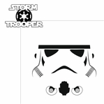 Star Wars Characters: Storm Trooper 2 Piece Laser Die Cut Kit