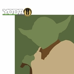 Star Wars Characters: Yoda 2 Piece Laser Die Cut Kit