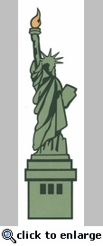 Statue of Liberty Laser Die Cut