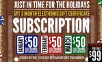 Subscription: 3 Month Gift Certificate Special