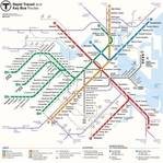 Subways: Boston 12 x 12 Paper