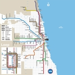 Subways: Chicago 12 x 12 Paper