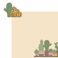 Succulent: Be strong 2 Piece Laser Die Cut Kit