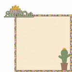 Succulent: Born to stand 2 Piece Laser Die Cut Kit
