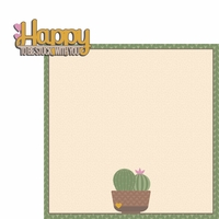 Succulent: Happy to be 2 Piece Laser Die Cut Kit