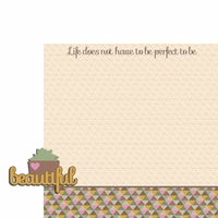 Succulent: Life does not 2 Piece Laser Die Cut Kit