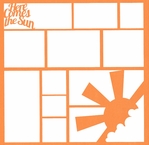 Summer:Here Comes The Sun 12 x 12 Overlay Laser Die Cut