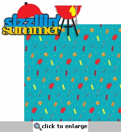 Summer Love: Sizzilin' Summer 2 Piece Laser Die Cut Kit