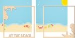 Sunkissed: At The Beach Double 12 x 12 Overlay Quick page Laser Die Cut