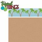 Sunny Christmas: Tropical Tidings 2 Piece Laser Die Cut Kit