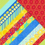 Sweet Summertime: Diagonal Collage Stripe 12 x 12 Double-Sided Paper