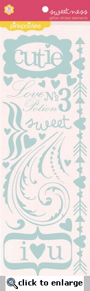 Sweetness: Glitter Sticker Elements