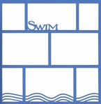 Swim 12 x12 Photo Overlay Laser Die Cut