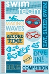 Swim Team Cardstock Stickers