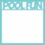 Swimming and Diving: Pool Time 12 x 12 Overlay Laser Die Cut