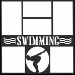 Swimming Boy 12 x 12 Overlay Laser Die Cut