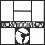 Swimming Girl 12 x 12 Overlay Laser Die Cut
