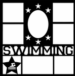 Swimming Star Frames 12 x 12 Overlay Laser Die Cut