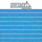 Swimming:Swim Meet 2 Piece Laser Die Cut Kit