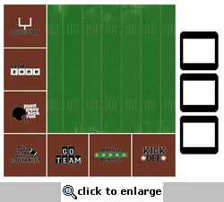 SYT Style-N-Slides Football 12 x 12 Layout Kit