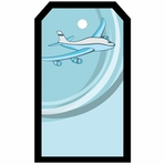 SYT Tag-UR-It Airplane In Blue Photo Tag