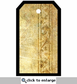 SYT Tag-UR-It Antique Gold Flourish Trim Photo Tag