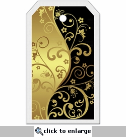 SYT Tag-UR-It Black and Gold Flourish Photo Tag
