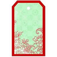 SYT Tag-UR-It: Red Floral Photo Tag