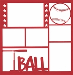 T-Ball Star 12 x 12 Overlay Laser Die Cut