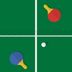 Tabletop Games: Table Tennis 12 x 12 Paper