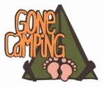 Take A Hike: Gone Camping Laser Die Cut