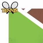 Tennis Anyone?:  Tennis 2 Piece Laser Die Cut Kit