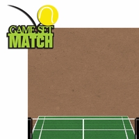 Tennis: Game Set Match 2 Piece Laser Die Cut Kit