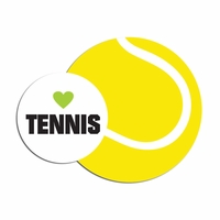 Tennis: Love Tennis Laser Die Cut