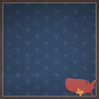Texas Travels: TX Label 12 x 12 Paper