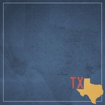 Texas Travels: TX Map 12 x 12 Paper