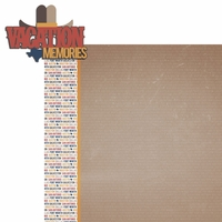Texas Travels: TX Vacation Memories 2 Piece Laser Die Cut Kit