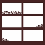 Thankful: Thankful for 12 x 12 Overlay Laser Die Cut