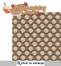 Thankful: Thanksgiving Dinner 2013 2 Piece Laser Die Cut Kit