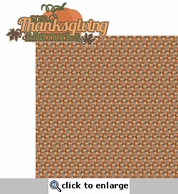 Thankful: Thanksgiving Memories 2013 2 Piece Laser Die Cut Kit